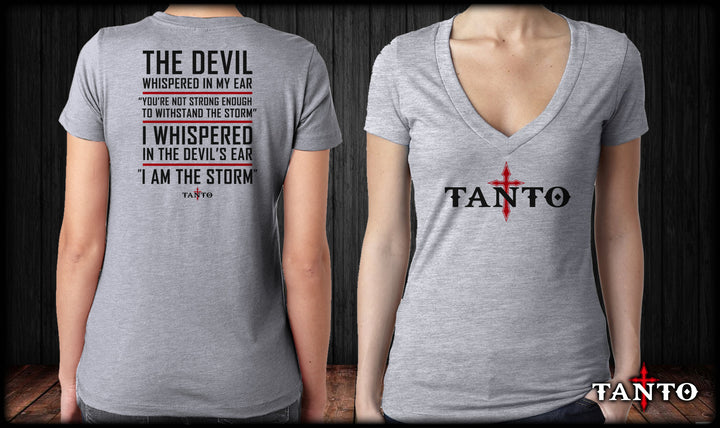 The Devil Whispered V-Neck
