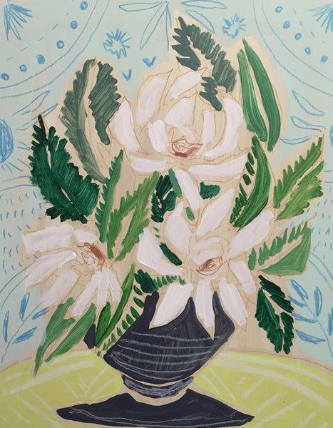 GARDENIAS - FLOWERS FOR CLAIRE - 11x14