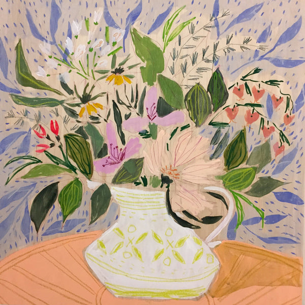 FLOWERS FOR CLAUDIA - 24X24