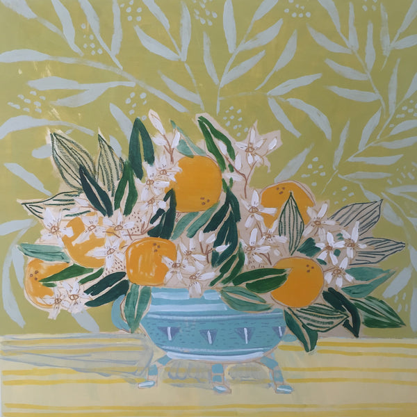 FLORIDA STATE FLOWER: FLOWERS FOR CLEMENTINE- 24X24