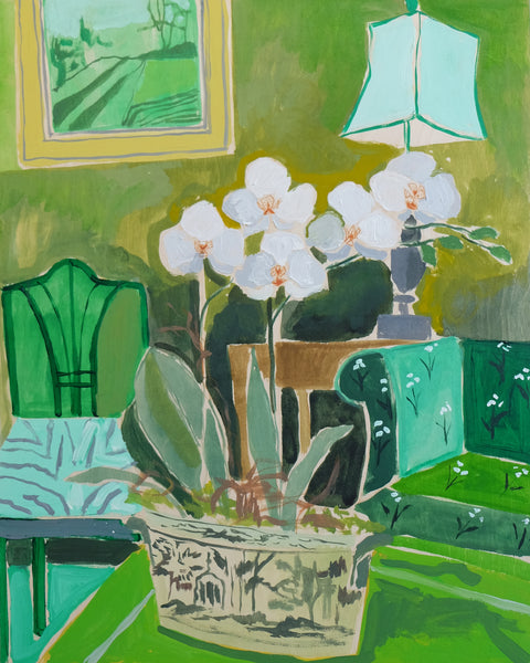 Potted Orchid No. 3 - 24 x 30