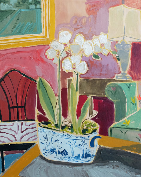 Potted Orchid No. 4 - 24 x 30