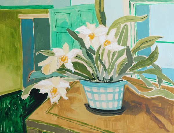 Potted Orchid No. 11 - 30 x 40