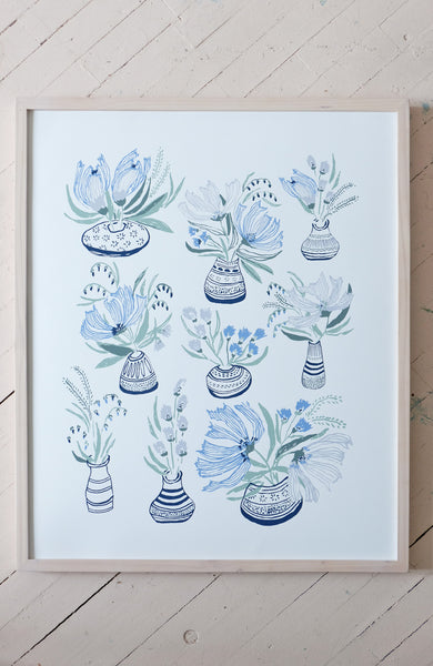 FLOWERS FOR EDY - 24x30 SILK SCREEN PRINT