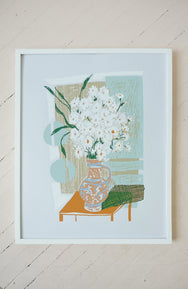 Flowers for Lucile - Silkscreen Print