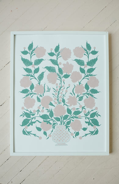 Flowers for Elizabeth - Silkscreen Print