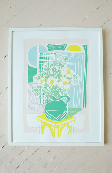 Flowers for Ellie - Silkscreen Print