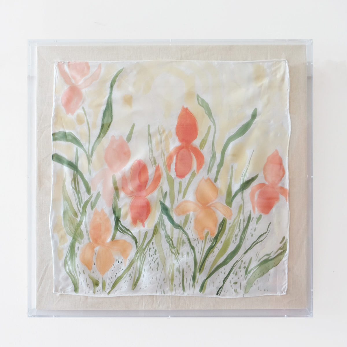 Framed Silk No. 5 - 24 x 24