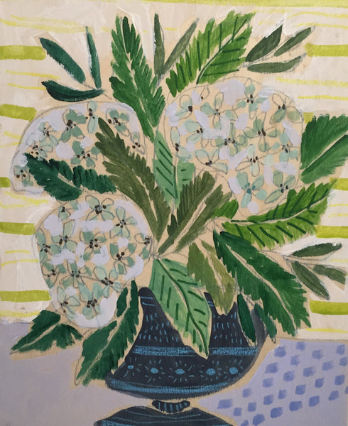 HYDRANGEAS - FLOWERS FOR GLADIS - 11x14