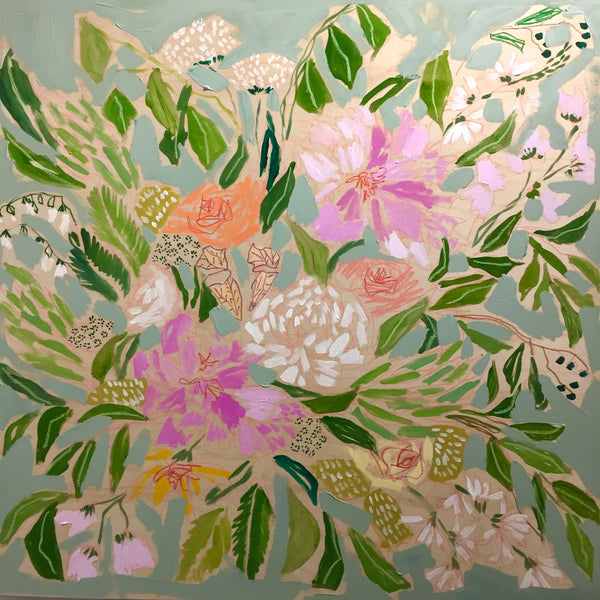 FLOWERS FOR ELIZABETH - 36x36
