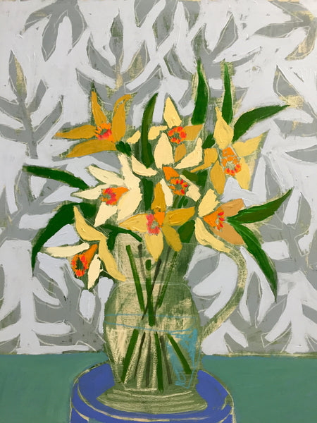 DAFFODILS - FLOWERS FOR PIPER - 24X30""