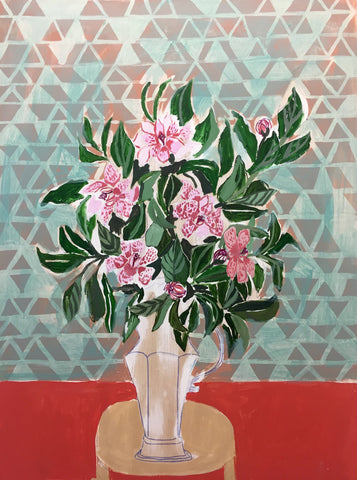 CAMELLIAS - FLOWERS FOR CARRINGTON - 36X48""