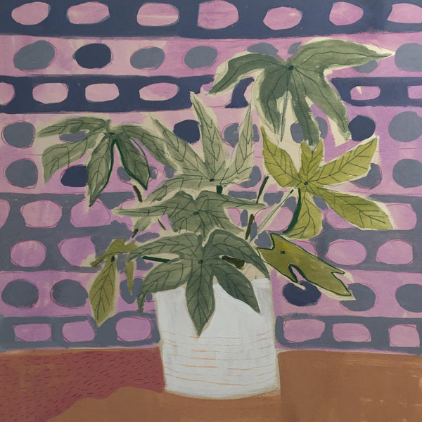 Fatsia Leaves for Fran - 24X24