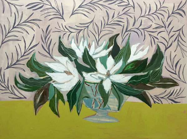 MAGNOLIAS - FLOWERS FOR SKYE - 36X48""
