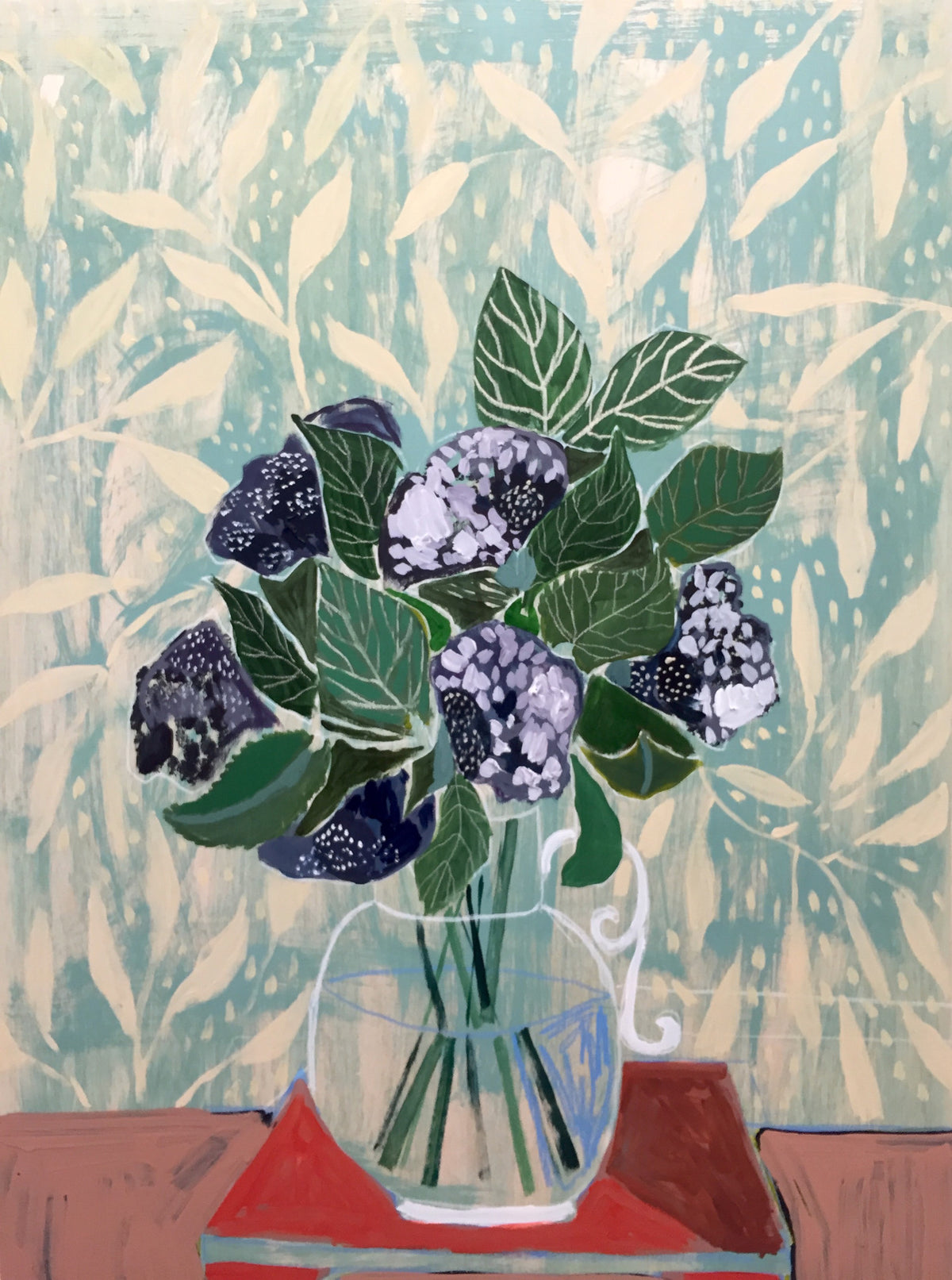 HYDRANGEAS - FLOWERS FOR MAE - 30X40""