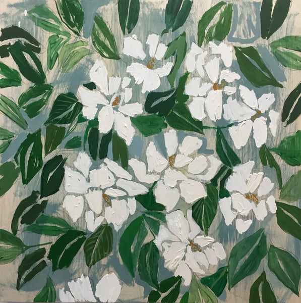GARDENIAS - FLOWERS FOR HAZEL - 30X30""
