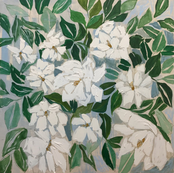 GARDENIAS - FLOWERS FOR ALICE - 30X30""