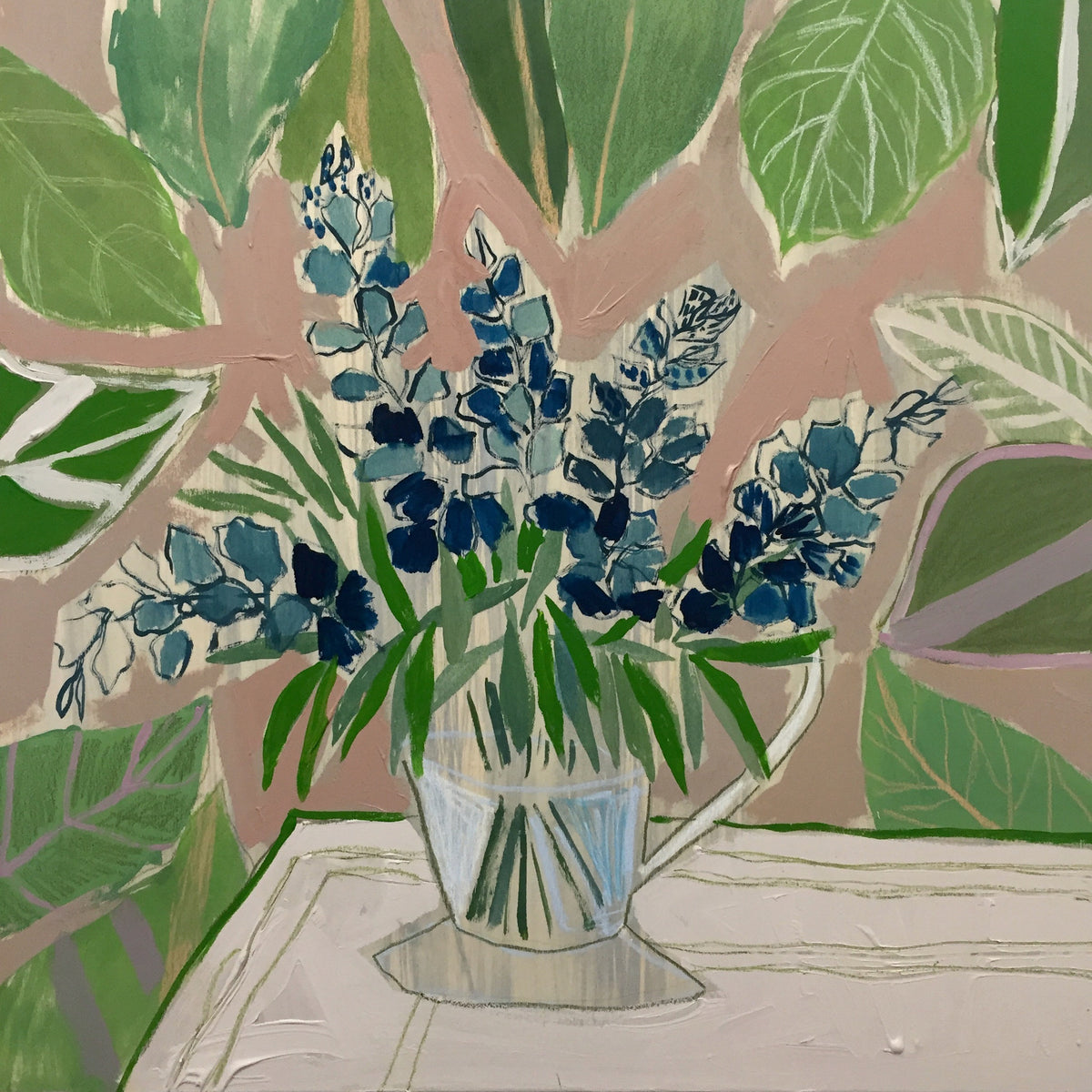 TEXAS BLUEBONNETS - FLOWERS FOR RILEY - 24X24""