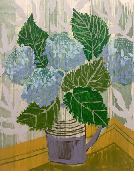 HYDRANGEAS - FLOWERS FOR LUCY - 16X20""