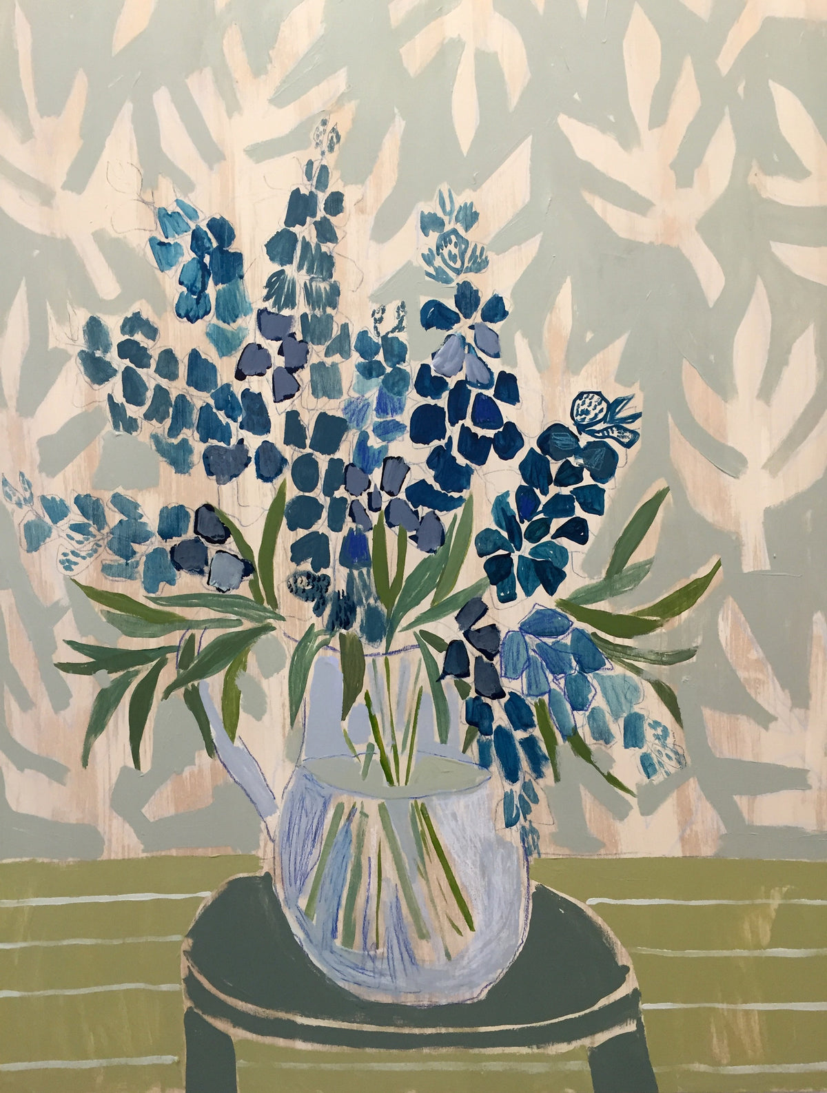 TEXAS BLUEBONNETS - FLOWERS FOR AUDREY - 30X40""