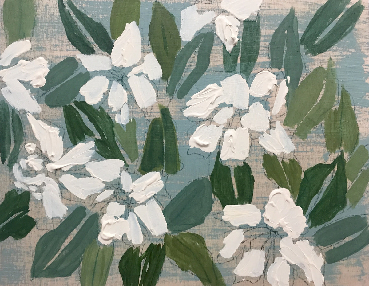 GARDENIAS - FLOWERS FOR HAYLEE - 11X14""
