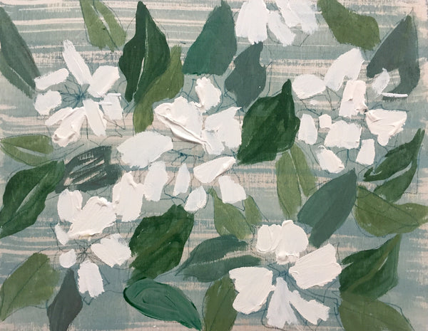 GARDENIAS - FLOWERS FOR ELIZABETH - 11X14""
