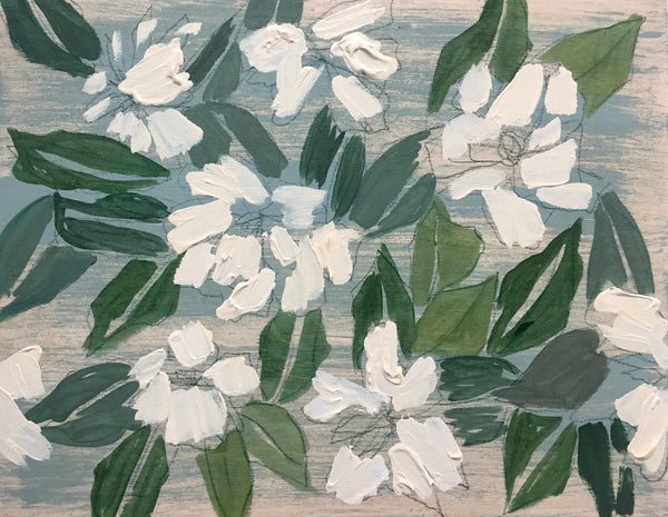 GARDENIAS - FLOWERS FOR CLAIRE - 11X14""