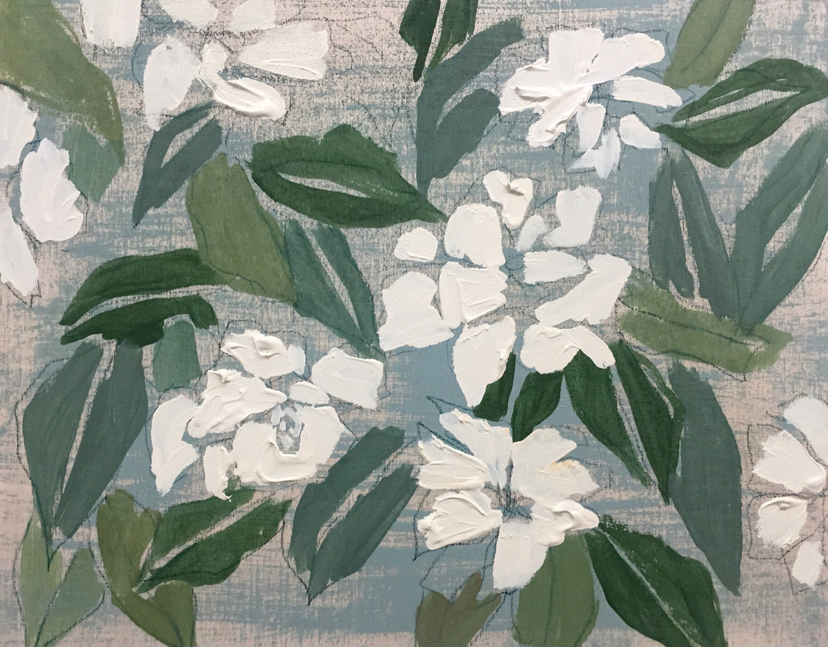 GARDENIAS - FLOWERS FOR MEGAN - 11X14""
