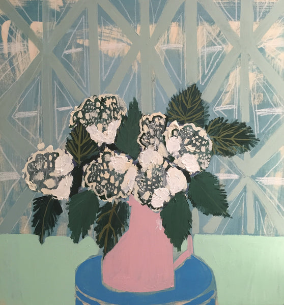 HYDRANGEAS - FLOWERS FOR OLIVIA - 30X30""
