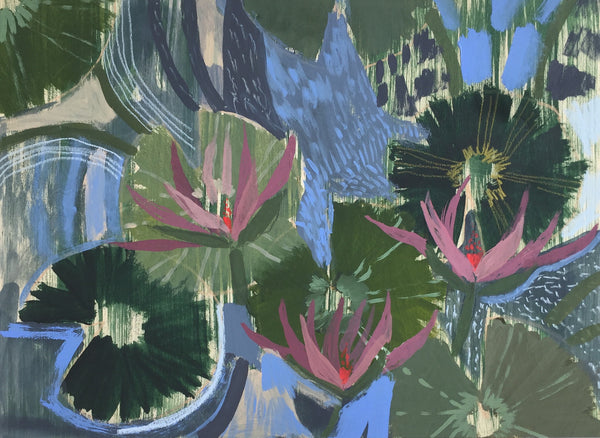AQUATIC PLANTS NO.8 - 18X24""