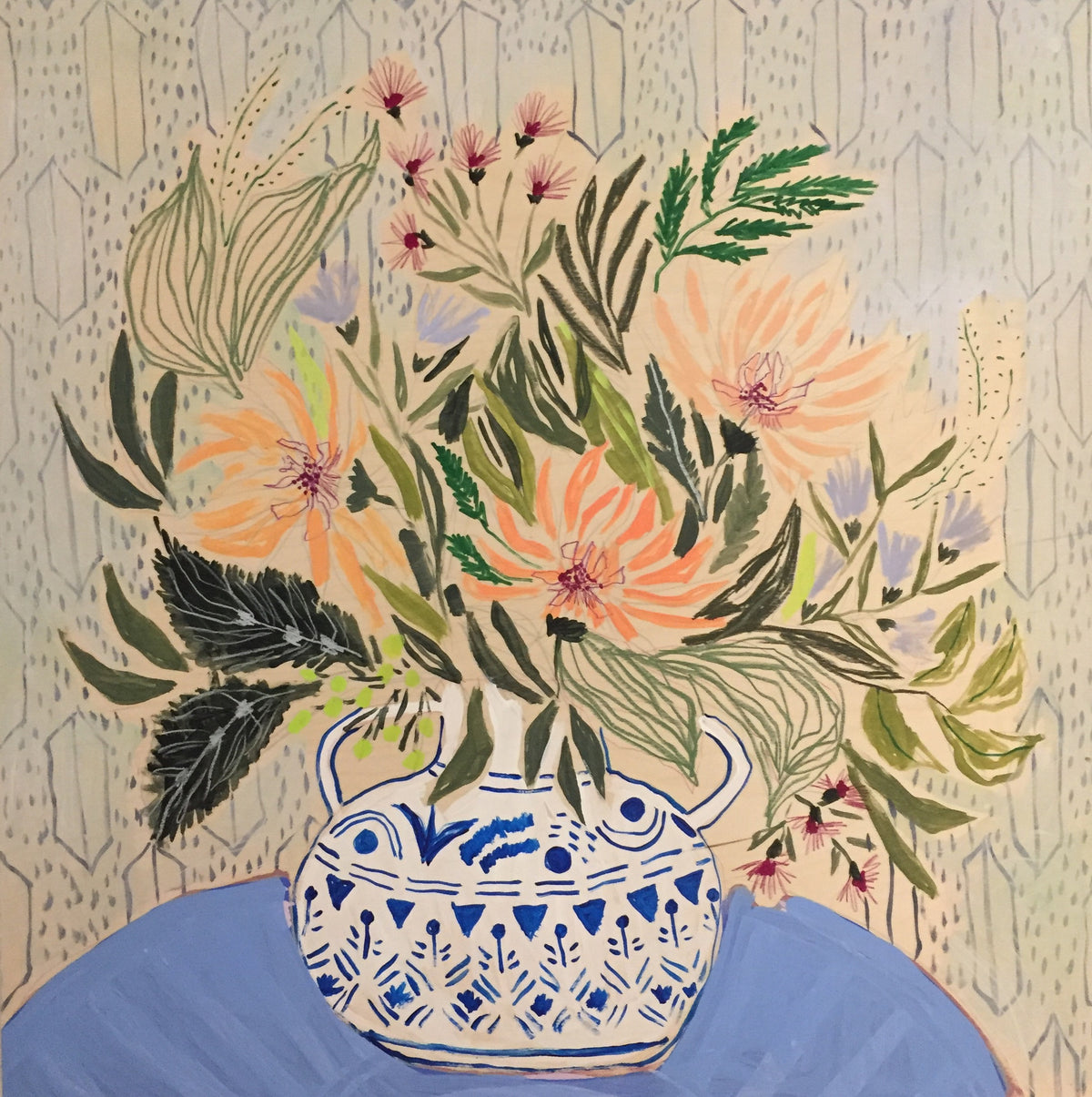 FLOWERS FOR EMMA - 36x36