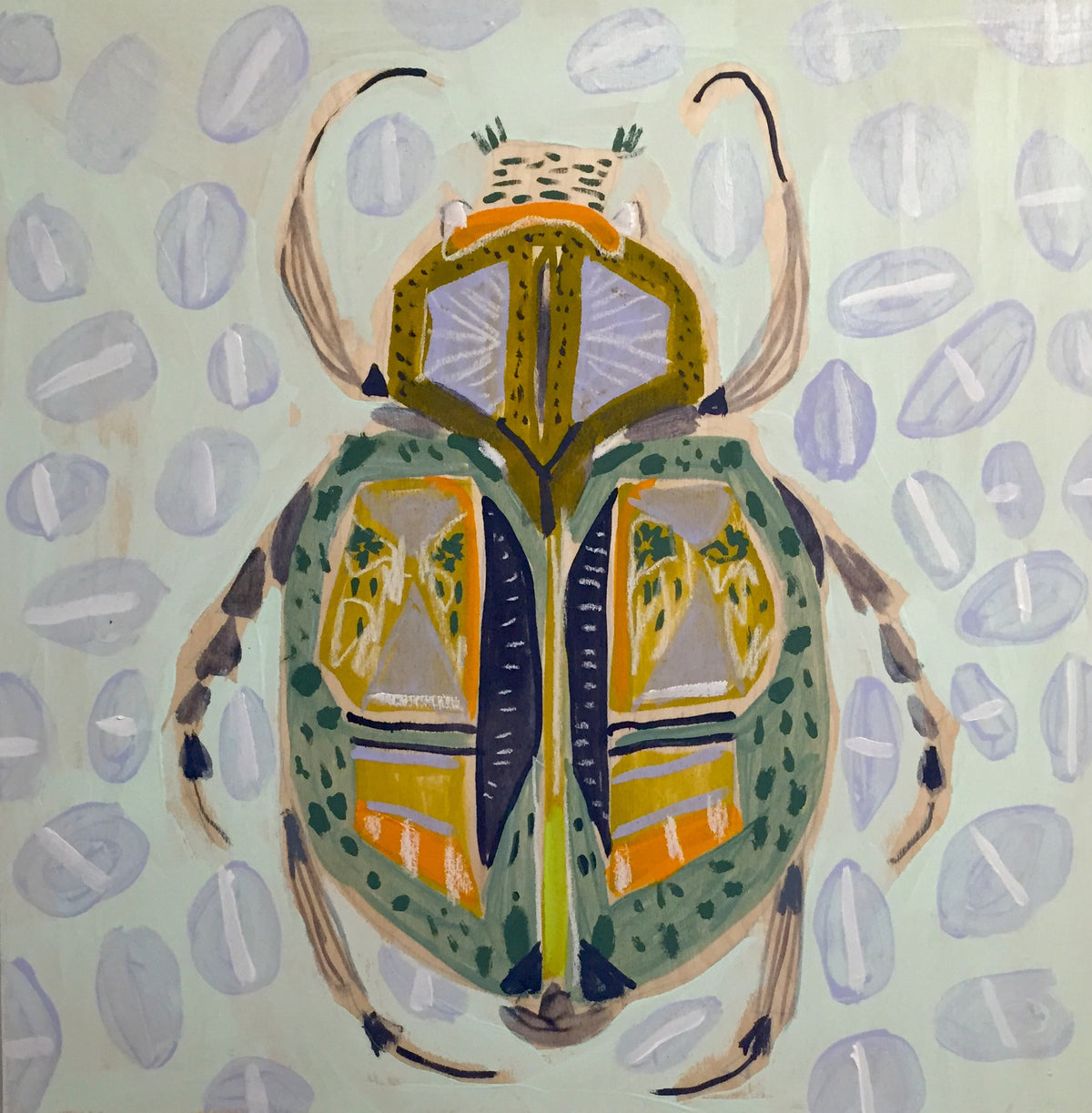 18X18 -  WARREN THE BEETLE