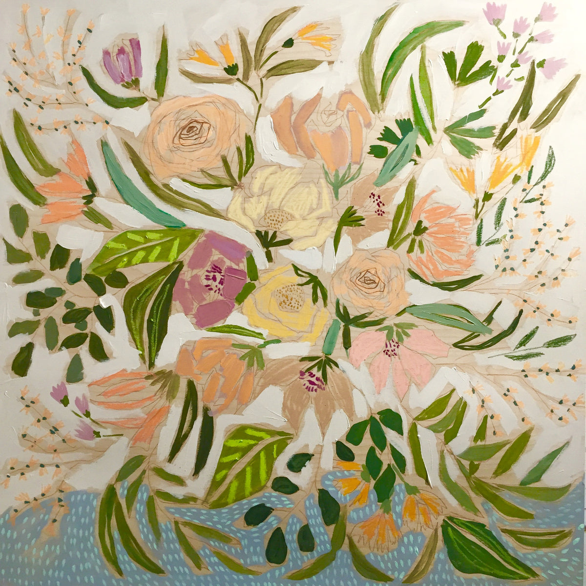 FLOWERS FOR CABBEL - 36X36