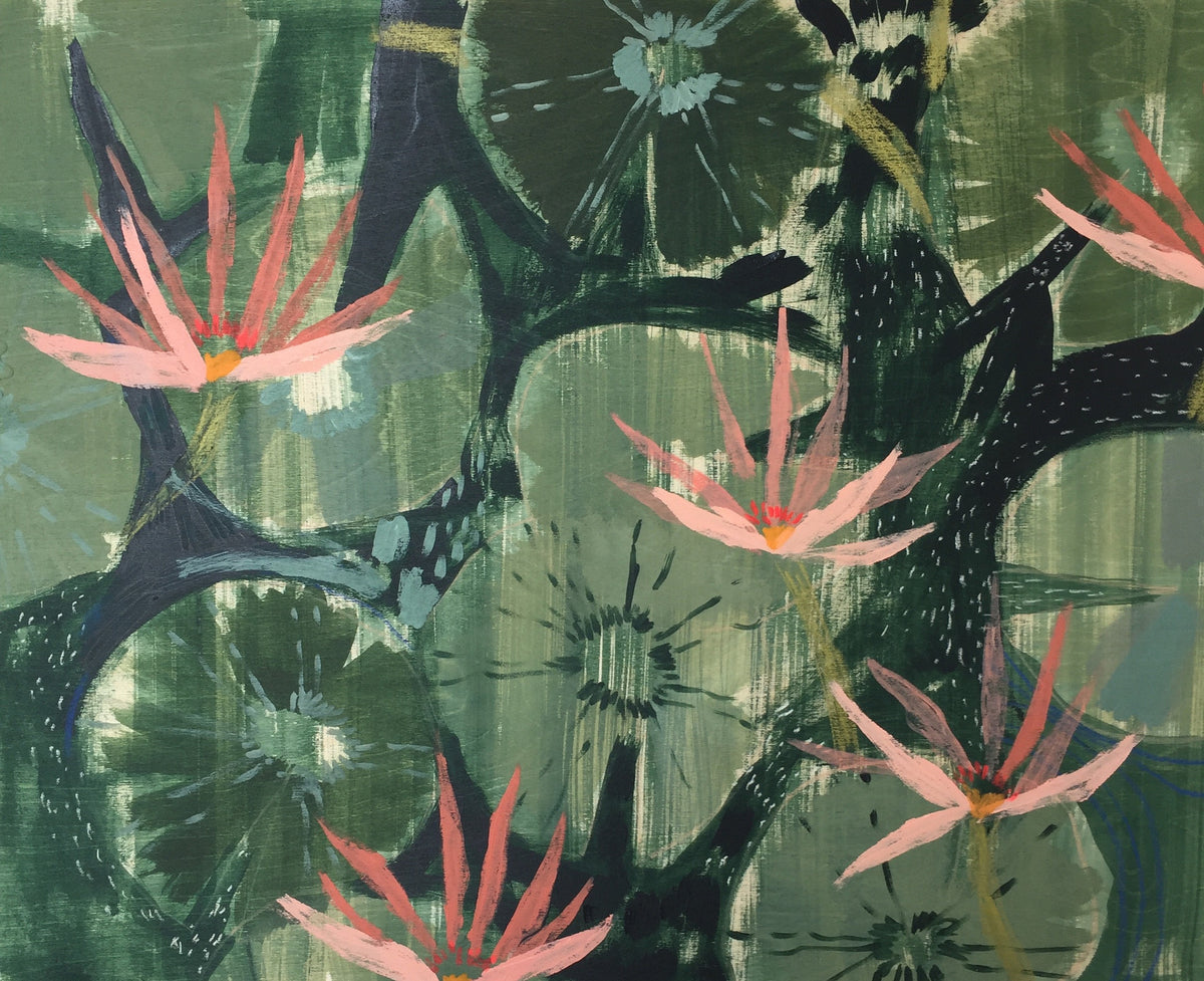 AQUATIC PLANTS NO.25 - 24X30""