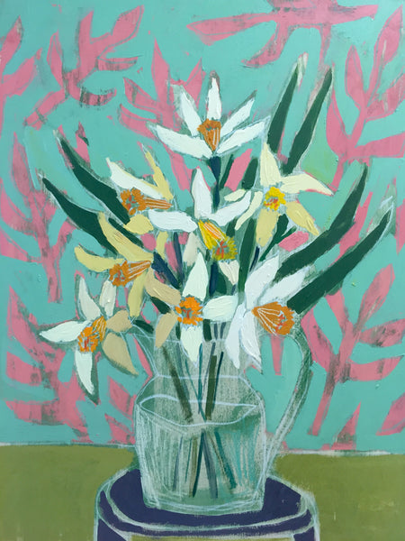 DAFFODILS - FLOWERS FOR CAMILLE - 24X30""