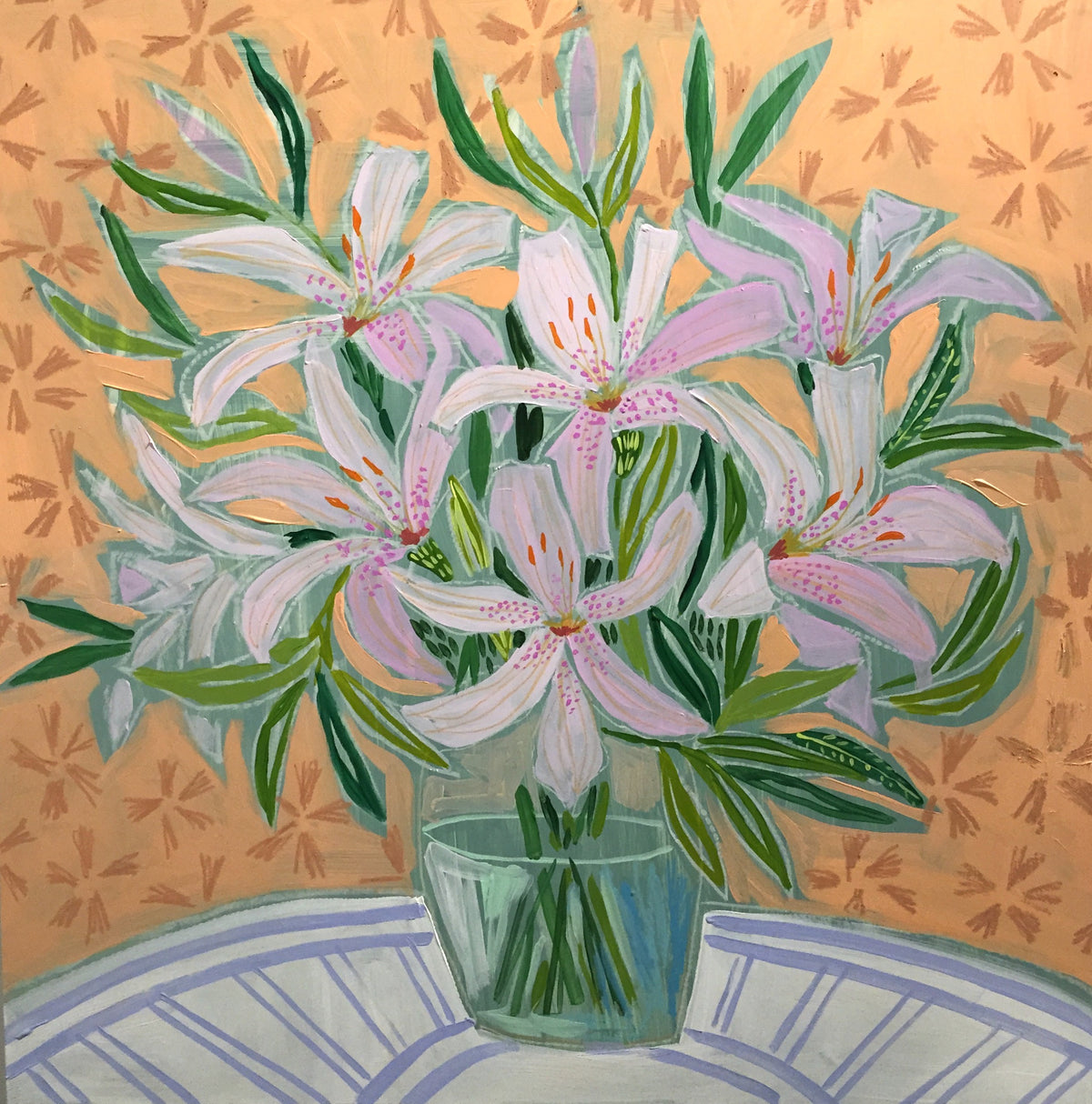 FLOWERS FOR AUDREY - 30X30