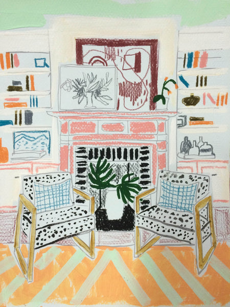 Interior Work on Paper #6