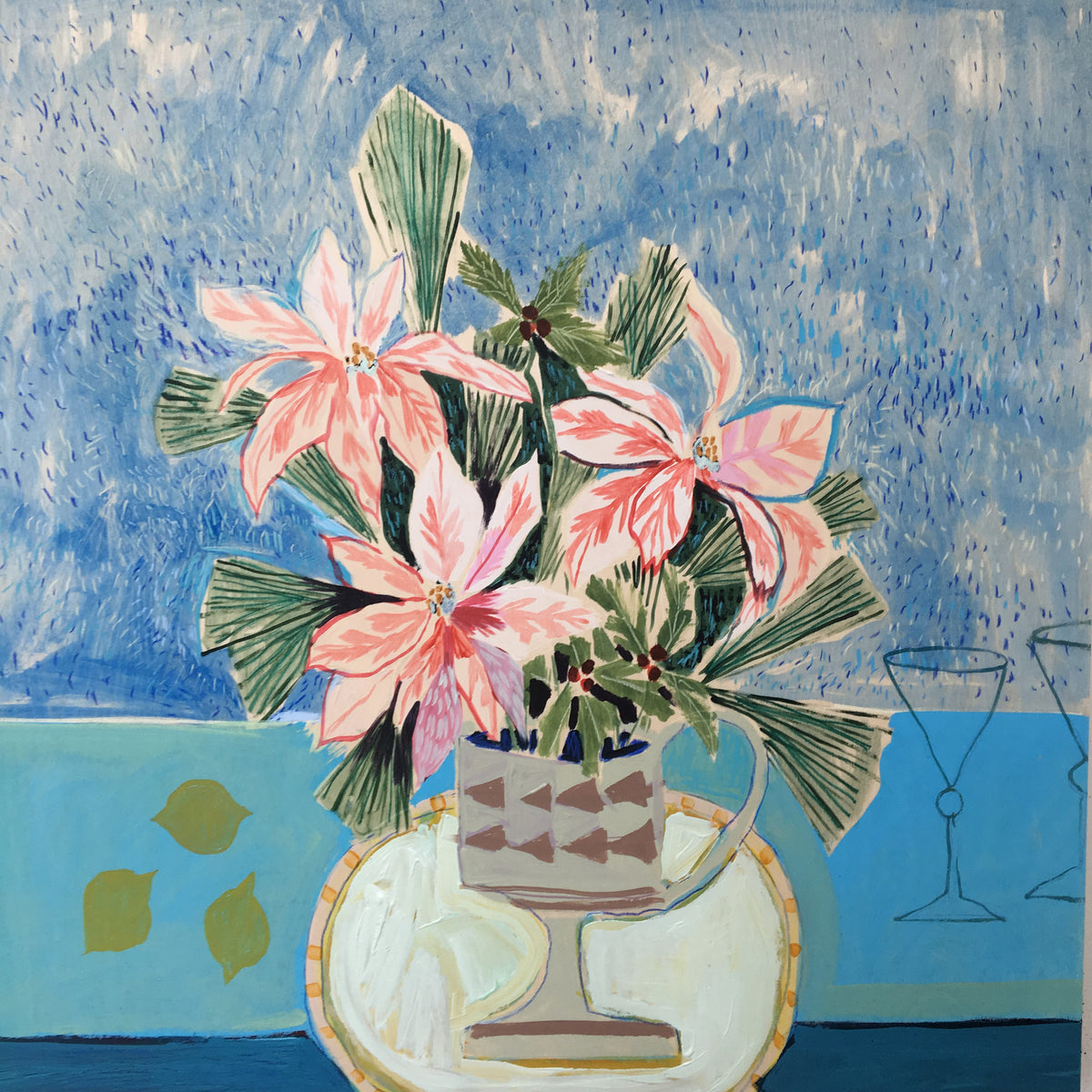 Flowers for Polly - 36x36