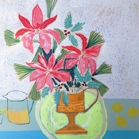 Flowers for Poppie -36x36