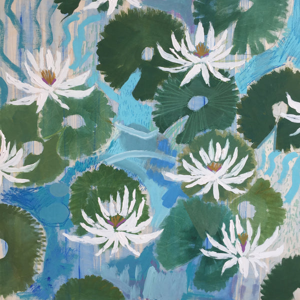 AQUATIC PLANTS NO.2 - 30X30""