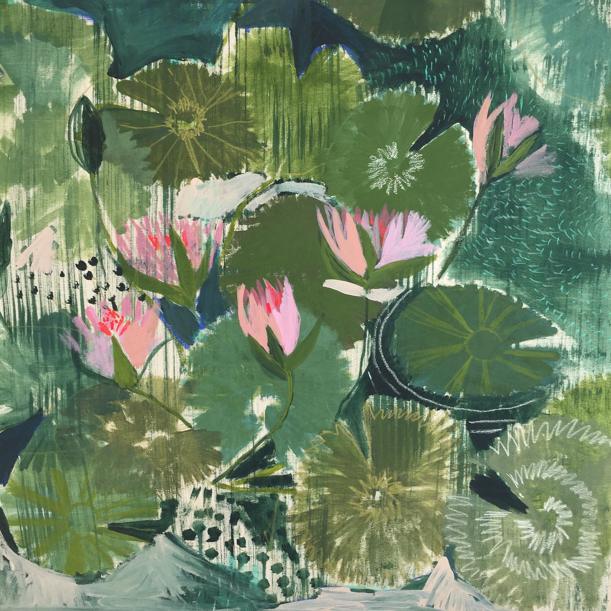 AQUATIC PLANTS NO.3 - 30X30""