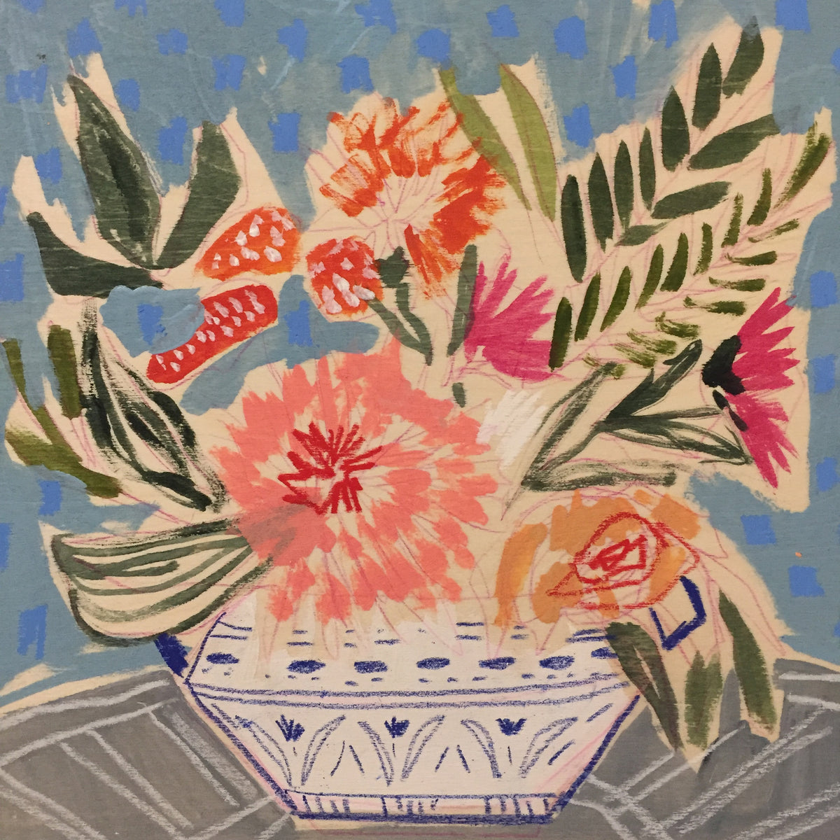 FLOWERS FOR FRANCES - 10x10