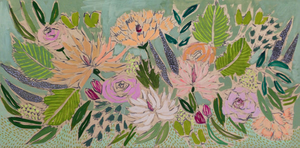 FLOWERS FOR MAVE - 24X48