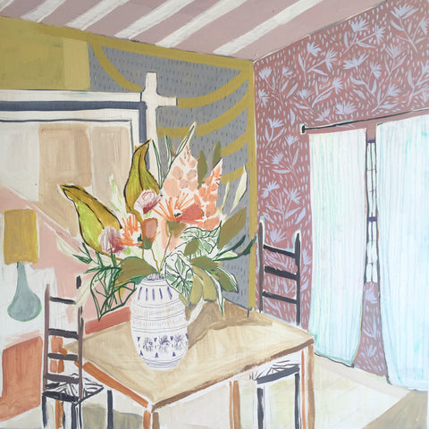 "Kitchen Table Study - 36""x36"""