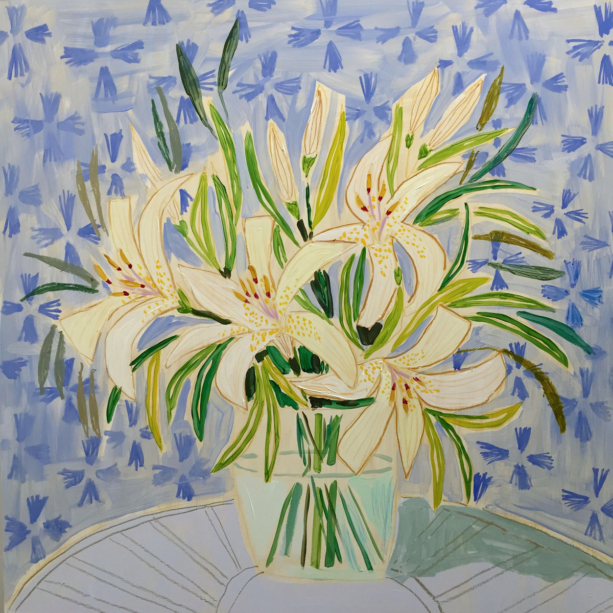 FLOWERS FOR BECCA - 30X30