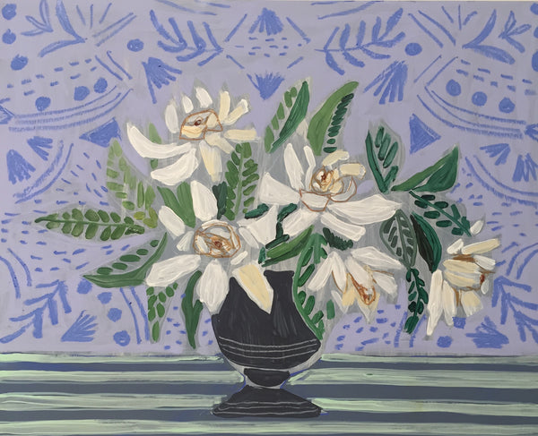 GARDENIAS - FLOWERS FOR BETSY - 16X20