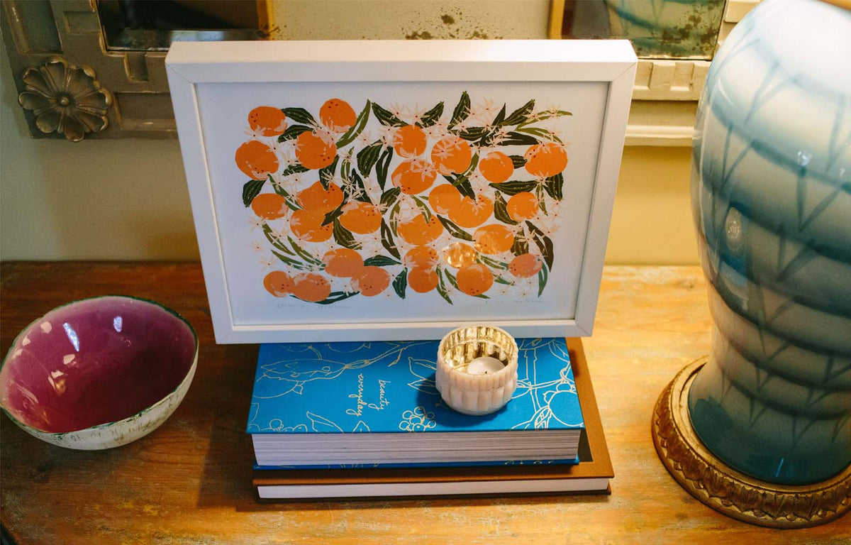 Orange Blossom - Silkscreen Print