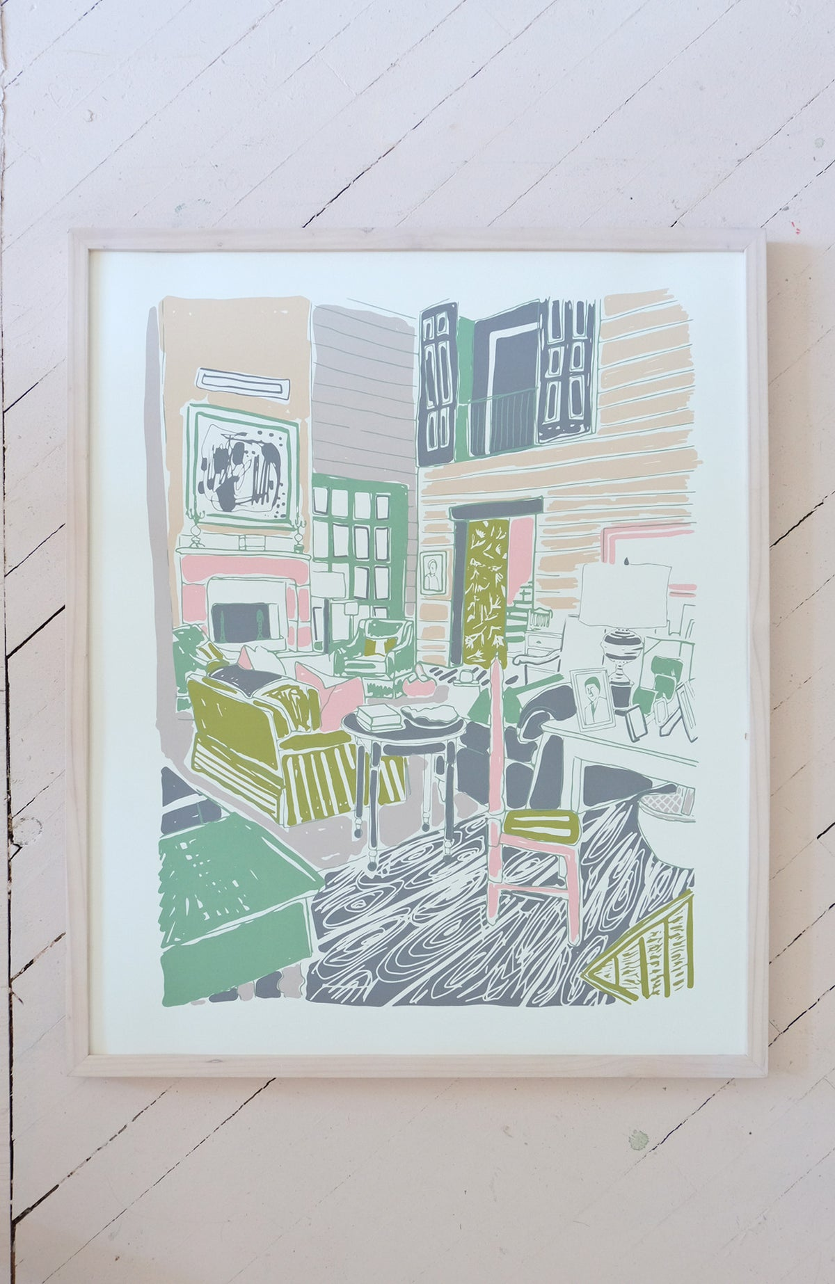 My Mother's Living Room - Silkscreen Print