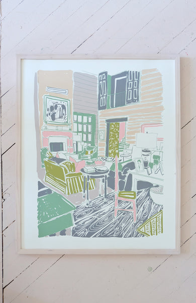 "MY MOTHER'S LIVING ROOM - 24 x 30"" SILKSCREEN PRINT"