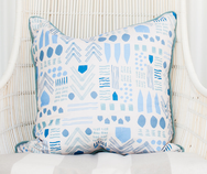 Indigo Zag Pillow